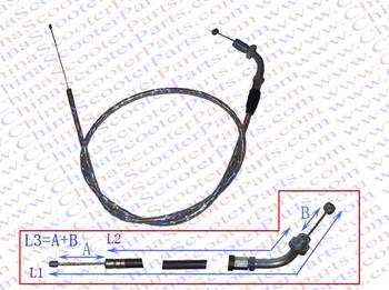 100CM 39.4 Inch Silver Curve Throttle cable 110CC 125CC 140CC 150CC Dirt Pit Bike ATV Quad Parts