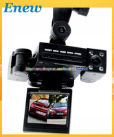 "FREE SHIPPING Dual camera dvr car Creative Transformers design car cam 2.0""tft lcd ir night vision registrator camera H3000"