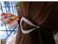 Min order $15(can mix order) Free shipping wholesale crystal rhinestone hair claw jaw clip for women hair grips hair accessories