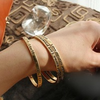 Free Shipping(min order 10$) fashion accessories vintage letter cupper bracelet MJ1P9