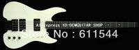 White 4 Strings custom headless bass guitar no head bass New Arrival Free Shipping