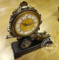 Fashion clock antique clock at home desk clock resin craft