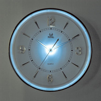 Mute bright light luminous wall clock fashion brief wall clock