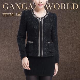2013 spring slim blazer ol long-sleeve o-neck women's design short coat female(China (Mainland))