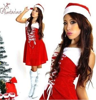 New Christmas mounted festive clothing female student photo album DS nightclub to stage performances uniform temptation