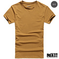 2013 spring and summer basic net colored o-neck men's clothing slim t-shirt casual short-sleeve T-shirt t567