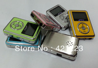 Free Shipping New LCD Screen Mini MP3 Player  Support 1-8GB Micro SD/TF Card Build-in Speaker,With earphone+usb cable