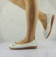 Genuine leather chromophous flats cow muscle slip-resistant outsole soft outsole work shoes nurse shoes size 35-43