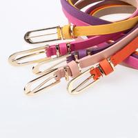 Thin female pigskin belt pin buckle piece set all-match decoration strap belt female