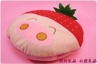 Gift pillow cushion air conditioning four in one strawberry pillow is air conditioning