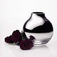 Globularness menu silver vase Small glass vase new year gift