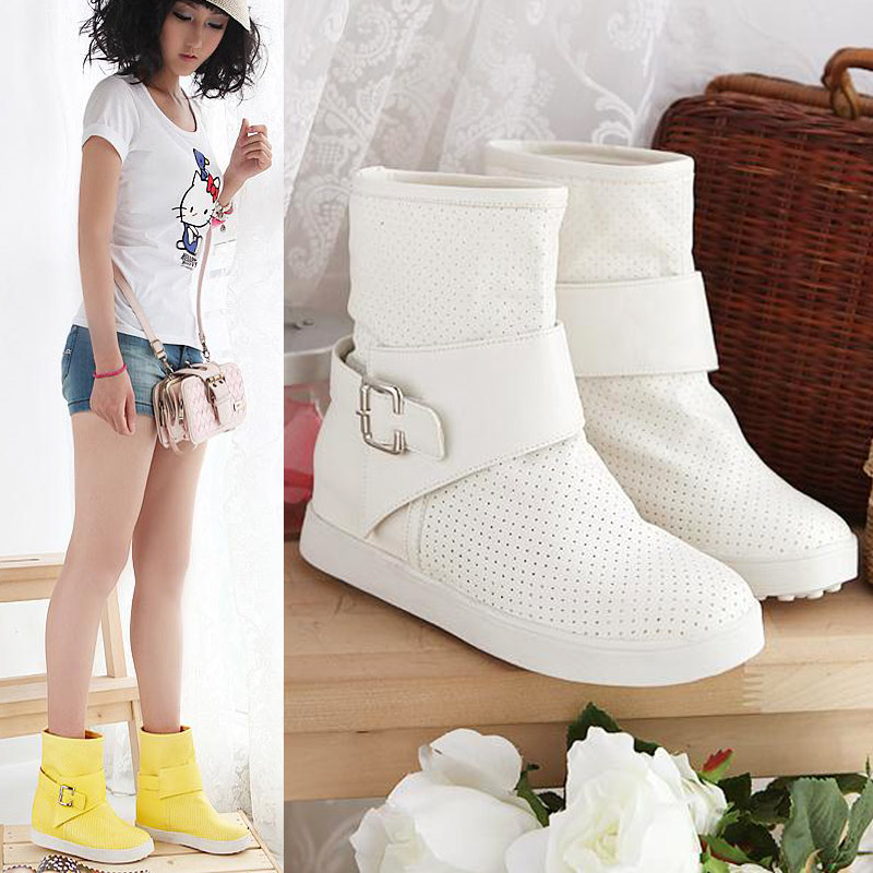 Free shipping Ladies Fashion Cool boots Spring boots Women shoes Ladies Short Boots(China (Mainland))