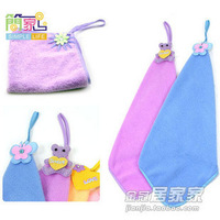 Hand towel ultrafine fiber towel hanging towboats cartoon hand towel