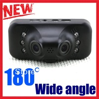 Full HD 1920*540P Car DVR Camera Recorder 2.7 inch LCD Car black box Dual lens Video cam 180 degree Wide Angle H264 G Sensor