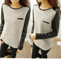 New Womens Ladies Loose Knitting Shirt T-shirt Long Sleeve Tops Blouse Winter