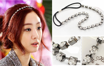 Min.order is $10(mix order) Top Quality Crystal Chains Link Hair Accessories Crystal Headband Ribbons Fashion Hair Bands SF088