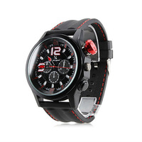 V6 Hot Selling Fashion Men's Rubber Band Analog Quartz Wrist Watch Free Shipping