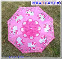 cartoon umbrella children  sun protection straight shank female long-handled umbrella child umbrella holle kitty