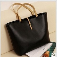 Free Shipping Black Leather Fashion Luxury Lady Ladies Women Woman Shoulder Handbag Bag