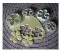 Min Order $20 (mixed order) Fondant tools Sugar tools 4pcs/set sugar rose cake mould diy tool cookie mold (XP)