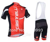 2013 New Arrival Red Caste ,Hot Sales Cycling Jersey +Bib Short Set/Cycle Wear/Sport Cloth/ Biking Gear/Racing Jackets CB664