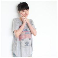 2013 female loose batwing shirt short-sleeve cartoon T-shirt women's top 99 3