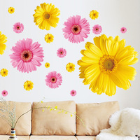 Wall stickers sofa tv daisy