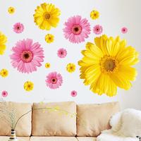 Wall stickers sofa tv daisy