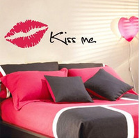 Sofa wall stickers kiss me applique