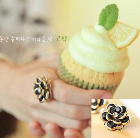 Free Shipping E4014 sweet sexy small rose ring 2013