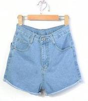 Promotion 2014 Summer Water Wash Roll-Up Hem Jeans Shorts Fashion Vintage High Waist Denim Shorts