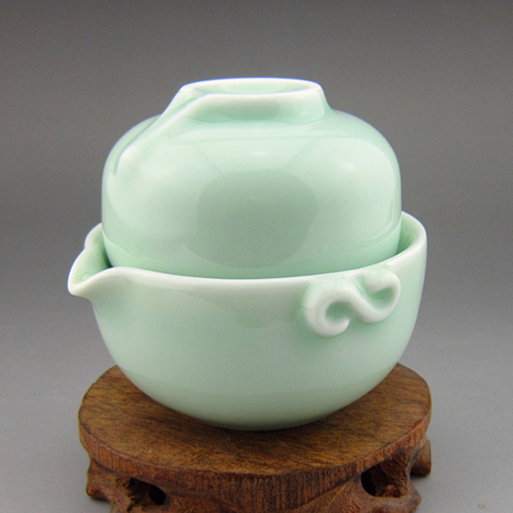 Celadon cup travel tea cup pot cup portable tea set(China (Mainland))