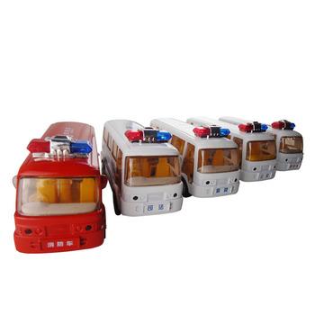Acoustooptical WARRIOR bus alloy car models door toy car toy car