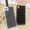 Fashion Punk Spikes Pyramid Studded Rivet Case Cover for iPhone 5 5g 5th iphone5 Free shipping