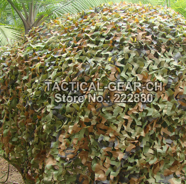 2x3m Car Drop netting Hunting Camping Military Camouflage Net jungle camouflage netting Woodlands hunting net w/free storage bag(China (Mainland))