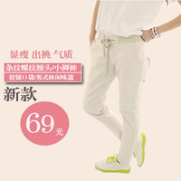 Free shipping 2013 spring candy multicolour pencil pants women casual jeans female trousers