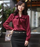 Free shipping 2013 spring women's ol slim chiffon shirt fashion elegant long-sleeve shirt