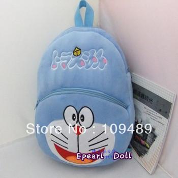 Free Shipping EMS 20pcs/lot Japnan Cartoon Doraemon Plush Backpack school bag hand bag Wholesale