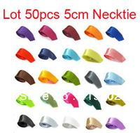 Wholesale Lot 50 pcs New Mens Stylish Skinny Solid Color Tie Necktie 25 Colors