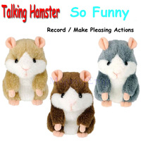 10Pcs/lot So Funny Mimicry Talking downy imitate Record Stuffed Plush Hamster Toys For Kids Children