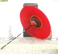 Large paper umbrella japanese style wild umbrella 150 diameter decoration paper umbrella red color customize pattern