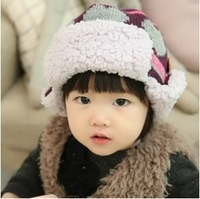 Love 2012 winter lei feng cap baby ear protector cap knitted hat child knitted hat winter hat