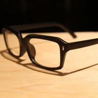 (Min order  $10) The trend of black plain mirror fashion eyeglasses frame meters ultra-light glasses male Women non-mainstream