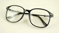 (Min order  $10) Preppy style plain mirror big box black glasses j112 16