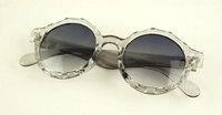 (Min order is $10) Multi-colored sunglasses transparent round box vintage sunglasses k52112 9