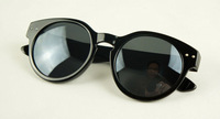 (Min order $10) Fashion popular rivet of paragraph sunglasses vintage circle lens sunglasses a457 4