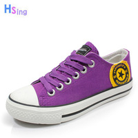 Purple in love street personality sweet fashion multi-colored millenum vivi women's canvas shoes