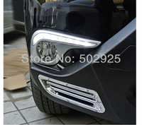 Free shipping by EMS Daytime running light fog DRL fit for Toyota Highlander 2012 up  new auto accessory