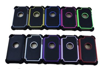 2pcs Best Hard Encased Defender Case Skin for Apple iPod Touch 4G 4th Gen Cover