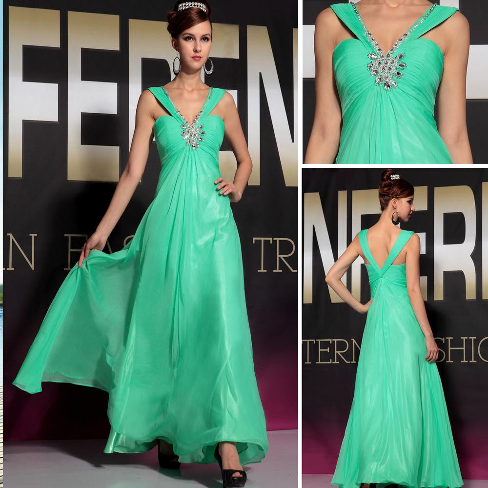Green Long Dress Red Carpet Elegant Red Carpet Long